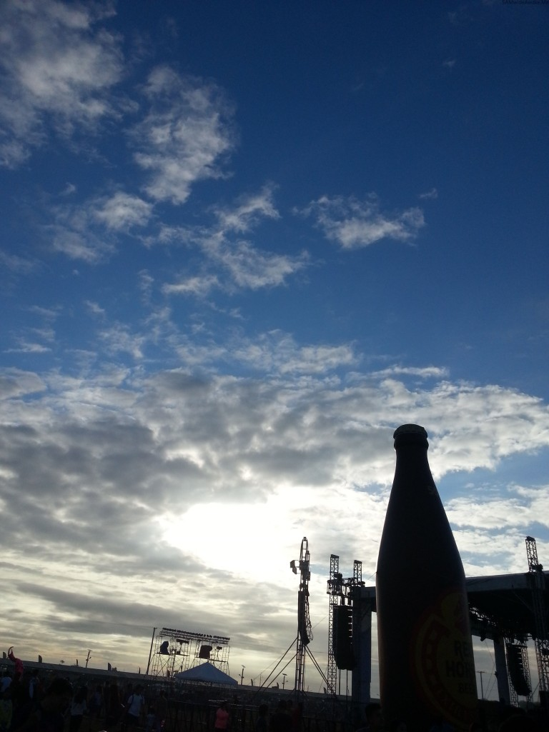 red horse and the sky lol